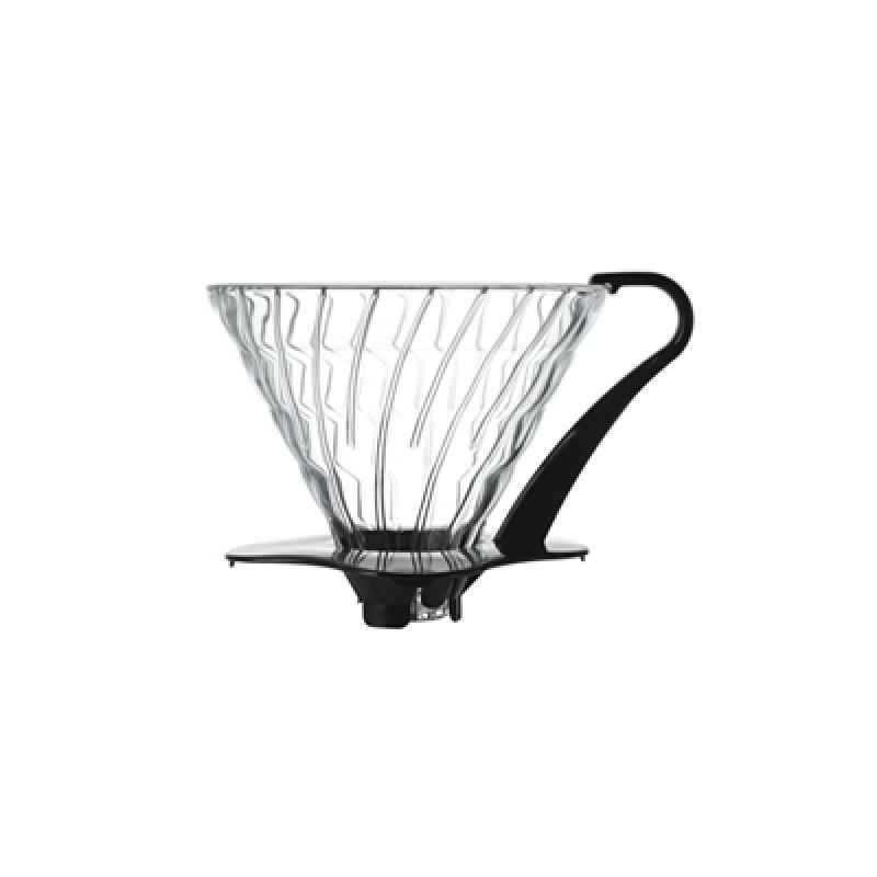 Hario V60 02 Dripper (Siyah Cam)