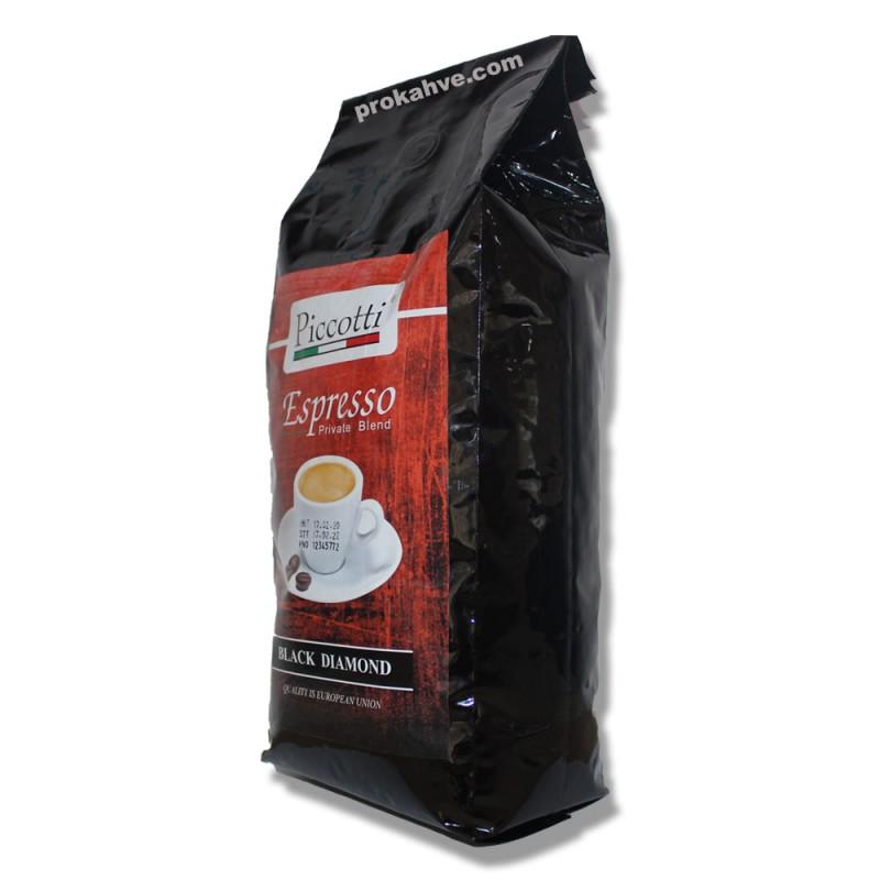 Piccotti Espresso Black Diamond Çekirdek Kahve 1 KG
