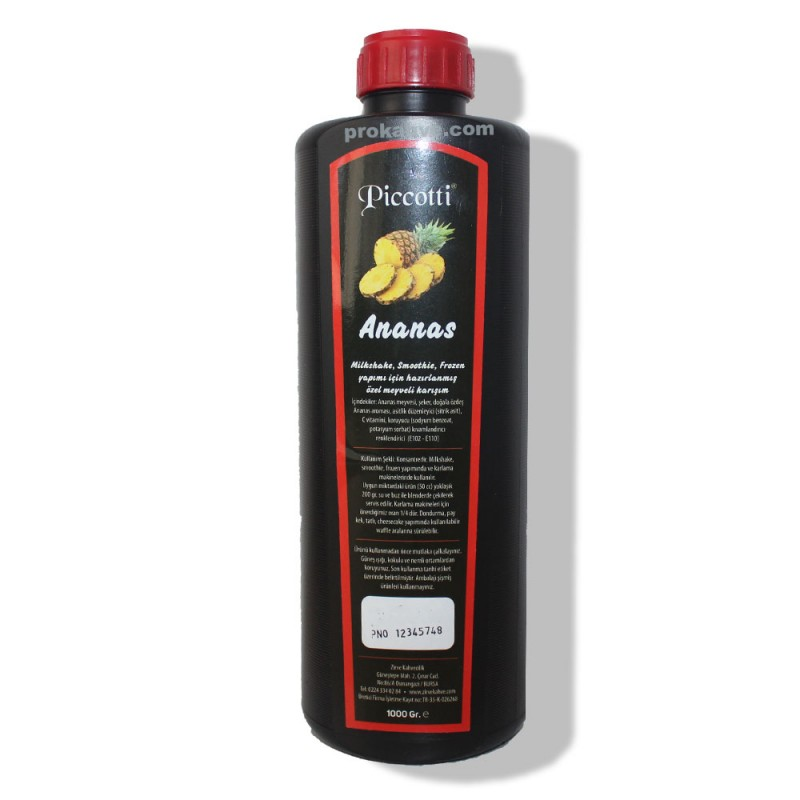 Piccotti Meyve Püresi Ananas 1000 Gr