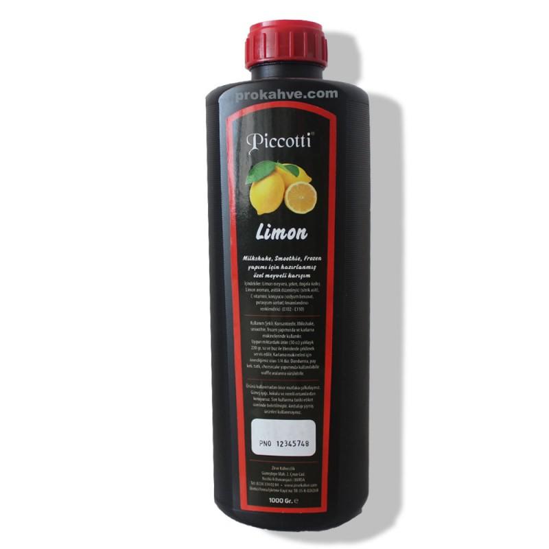 Piccotti Meyve Püresi Limon 1000 Gr