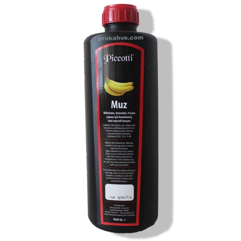 Piccotti Meyve Püresi Muz 1000 Gr