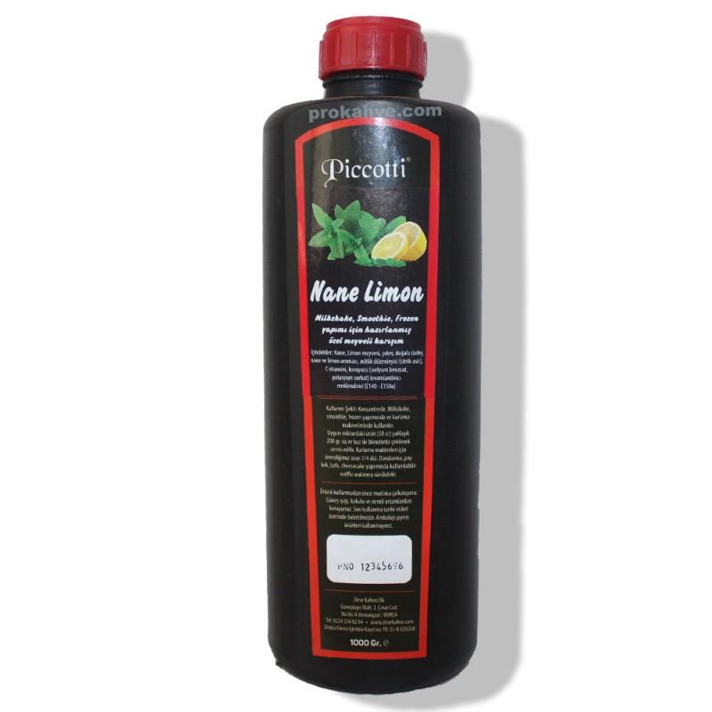 Piccotti Meyve Püresi Nane-Limon 1000 Gr