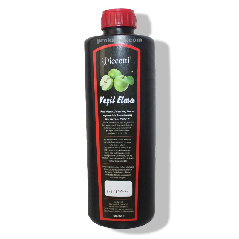 Piccotti Meyve  Püresi Yeşil Elma 1000 Gr