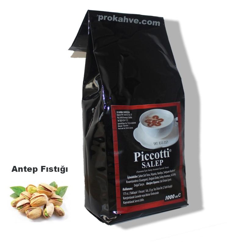Piccotti Sahlep Antep Fıstıklı 1000 Gr Paket
