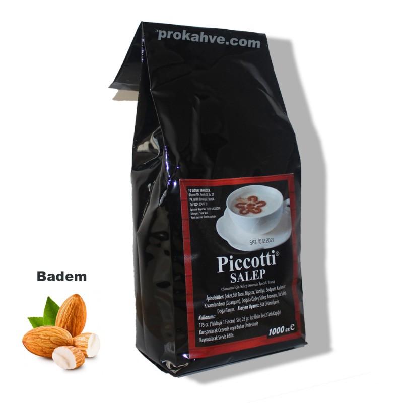 Piccotti Sahlep Ballı Bademli 1000 Gr Paket
