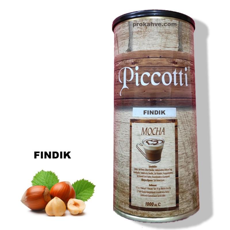 Piccotti Mocha Fındıklı 1000 Gr Kutu